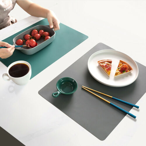 Oilproof Heat Insulation Waterproof Placemat Table Mat Dish Bowl Pad PU Leather