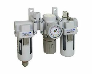 "PneumaticPlus Compressed Air Filter Regulator 3//8/"" NPT SAU320-N03DG-MEP R"