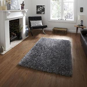 Image Is Loading Modern 6cm Pile Silver Rug Living Room Soft