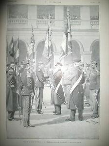 INVALIDES-DRAPEAUX-CHINE-amp-MADAGASCAR-CONFLIT-FRANCE-TURQUIE-L-039-ILLUSTRATION-1901