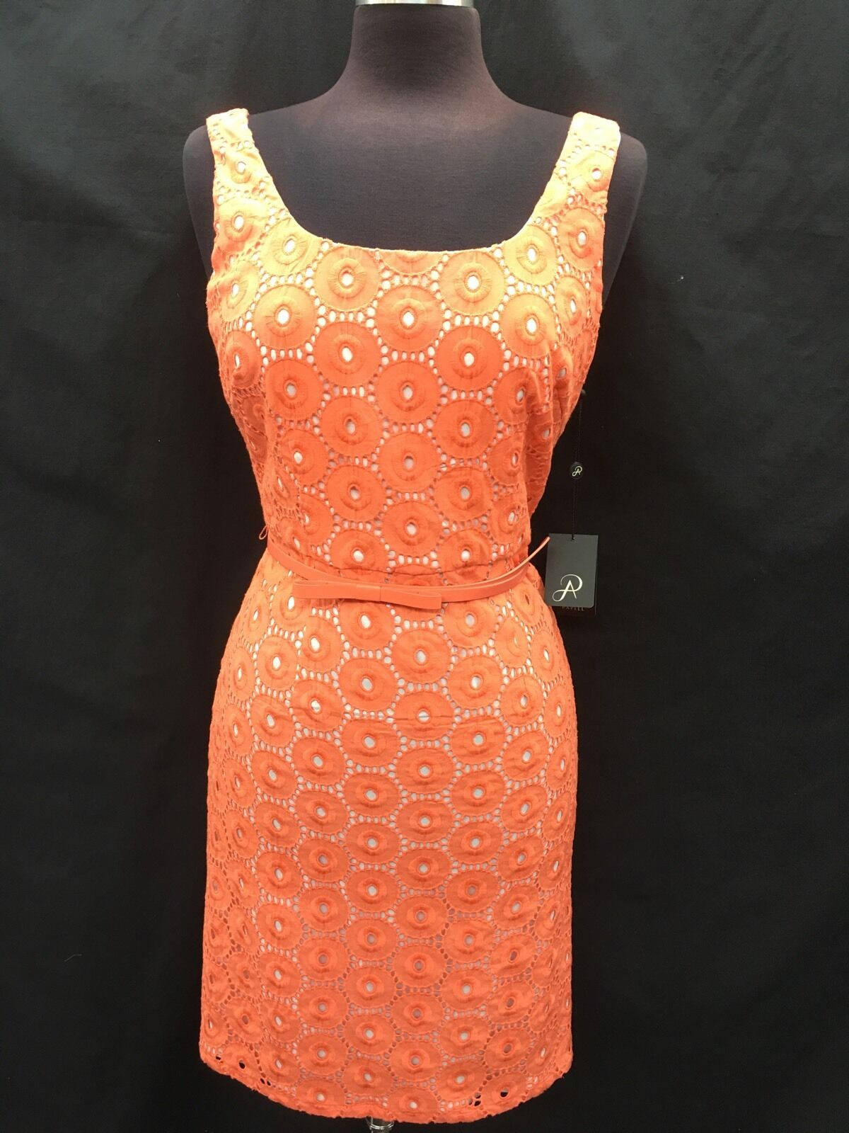 ADRIANNA PAPELL DRESS COTTON RETAIL 8 LINED NEW WITH TAG LENGTH 38