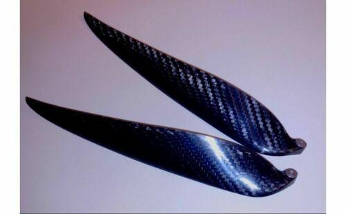 """1 Paar Carbon Klappluftschraube 18/""""x11/"""" 458 x279mm CFK Folding Propeller neu"""