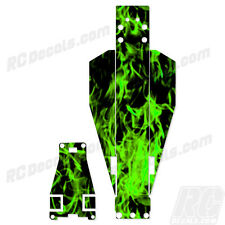 Traxxas Rustler Or Bandit Chassis Protector Flames - Green TRA3722