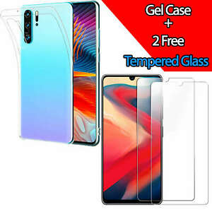 Clear-Gel-Case-For-Huawei-P30-Pro-P20-Mate-20-Lite-Tempered-Glass-Screen-Cover