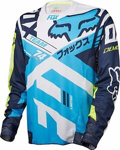 Fox Racing Demo Long Sleeve L/S Jersey Navy