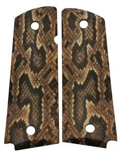 Custom-Full-Size-1911-Grips-Ambidextrous-Viper-Snake-Skin-for-Colt-Kimber-etc