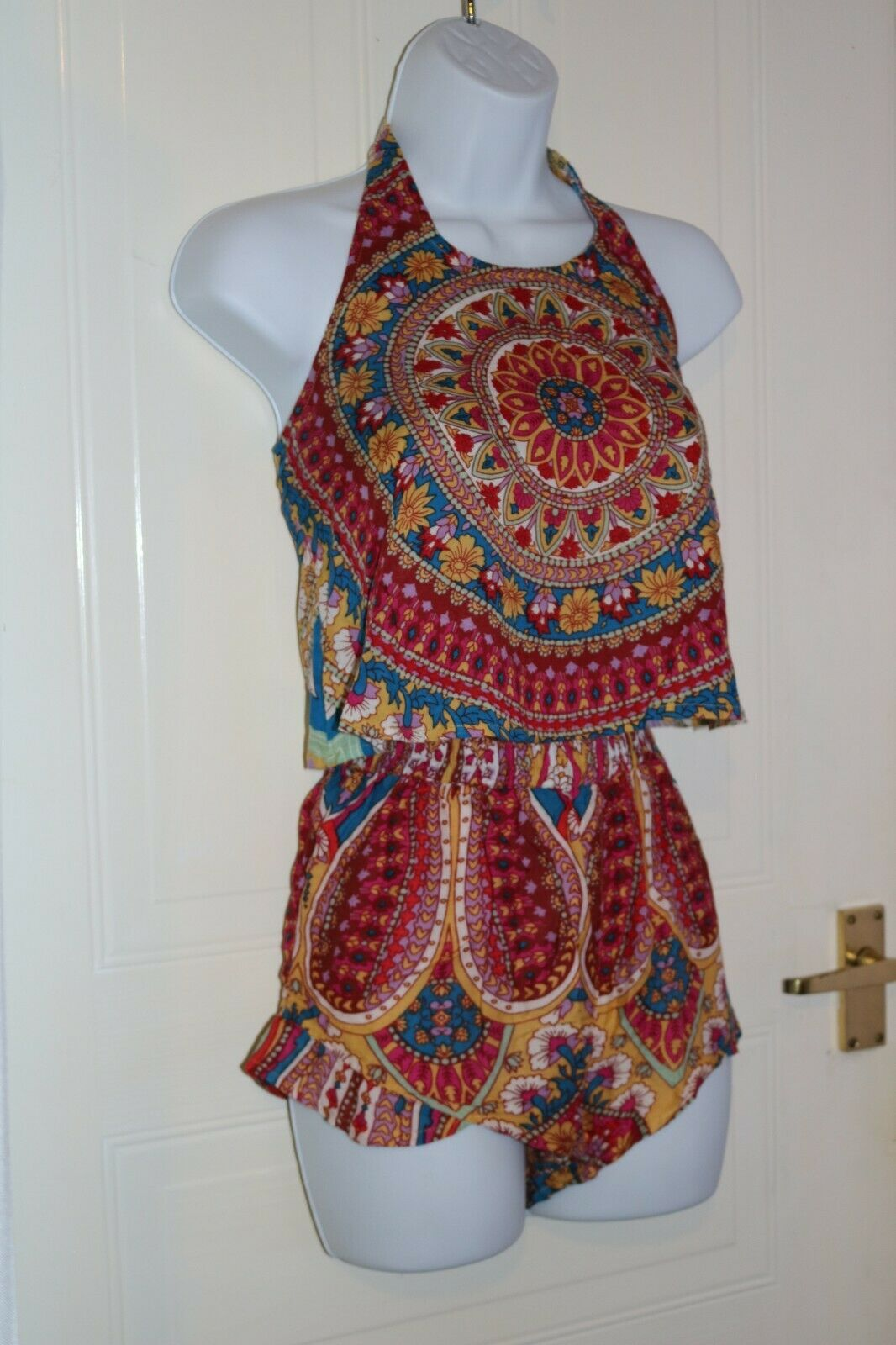 Billabong boho two piece playsuit size small S
