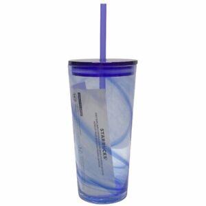 Starbucks-Siren-Mermaid-Recycled-Glass-Blue-Swirl-Cold-Cup-Tumbler-Grande-18-oz