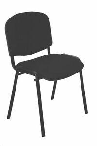 Stuhl-schwarz-Konferenzstuhl-Besprechungsstuhl-Stuhl-Besucherstuhl-Buerostuhl-Neu