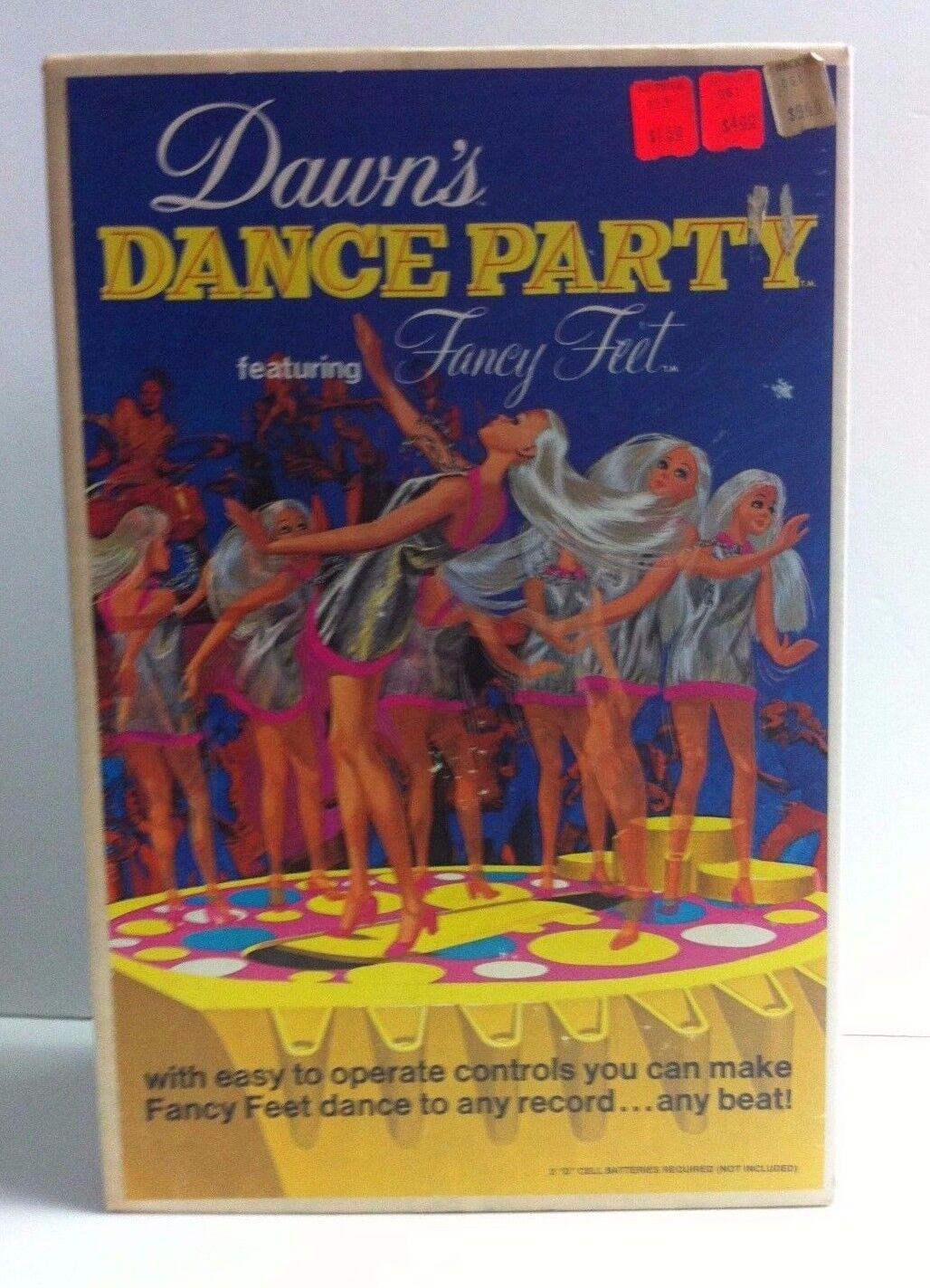 Dawn Dance Party con Fancy Feet Muñeco Vintage Nuevo nunca quitado de la caja en caja como nuevo Menta en paquete de menta en tarjeta