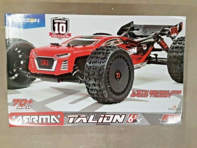Arrma Talion 6S BLX Brushless RTR 1/8 4WD Truggy Red/Black (V4) ARA106048 New!!