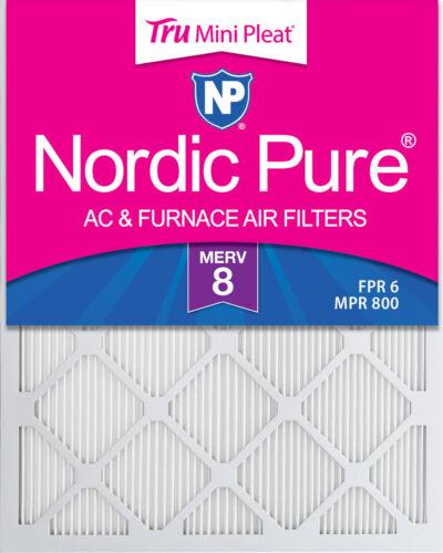 15/_1//2x24/_1//2 16x25x1 Tru Mini Pleat MERV 8 AC Furnace Air Filters 6 Pack