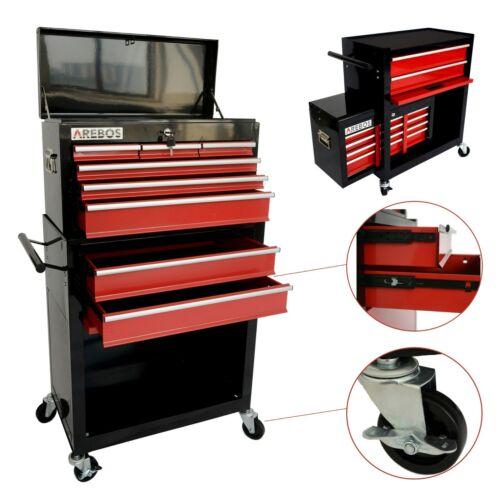 AREBOS Chariot d/'Atelier d'Armoire Chariot Boîte à Outils à 9 Compartiments