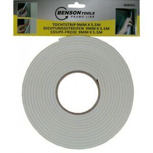 Bande Coupe-Froid Humidité Bord de Fenêtres et Porte Blanc 5,5 M à Découper