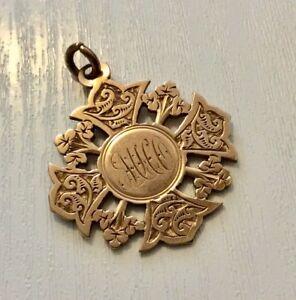 Superb-Antique-Victorian-Gold-9CT-Chester-1898-Billiards-Medal-Rose-Gold