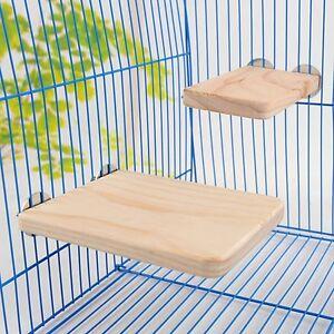 Wooden Hamster Squirrel Parrot Bird Perch Puppy Stand Platform Pet Hanging Toy