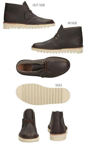 Clarks Originals Men ** Kilve Desert Boot ** Dunkelbraun ** Wollfutter ** UK 9,5 Braun