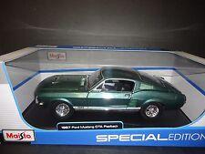 Maisto Ford Mustang GTA Fastback 1967 Green 1/18