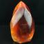 Natural-carnelian-flame-Shape-Quartz-Crystal-agate-torch-specimen-Healing-180g thumbnail 1