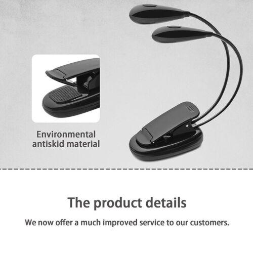 Orchestra Notenständer Licht LED Clip-On Einstellbare Buchleselampe USB-pXB ZR