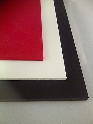 Foam PVC Light Weight Signage Board Sheet 2mm 3mm 5mm & 10mm White Black & Red