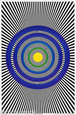 LOT OF 2 POSTERS FREE SHIPPING  #3492   LP40 N PSYCHEDELIC ROTATING CIRCLES