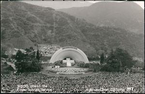 HOLLYWOOD-BOWL-CA-Easter-Sunrise-Service-Crowd-Vintage-RPPC-Postcard-Old-Photo