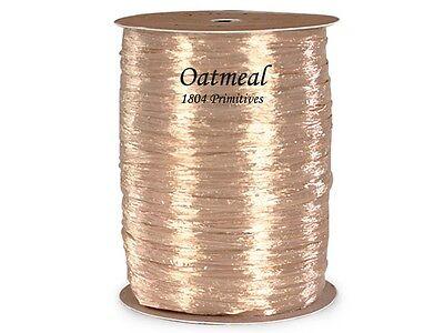 1//4 X 100 Yards Oatmeal Metallic Raffia Ribbon