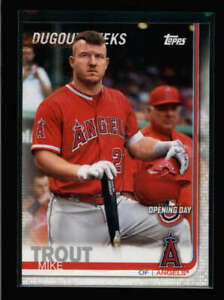 MIKE TROUT 2019 TOPPS OPENING DAY #DP-14 DUGOUT PEEKS (RARE SP) FC3629