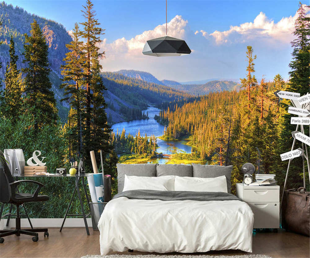 World Of Water Trees Full Wall Mural Photo Wallpaper Printing 3D Decor Kid Home