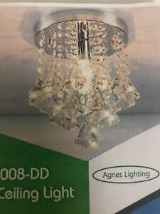 Diamond-CEILING-LAMP-CrystalFixture-Light-Chandelier-Flush-Mount-Lighting