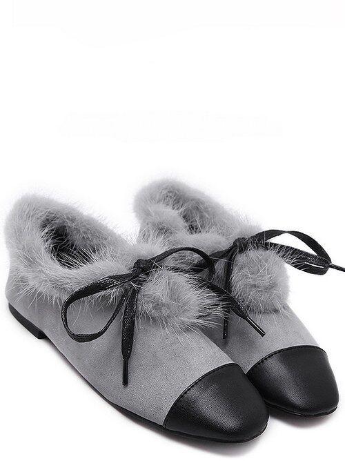 Bottes basses chaussures bas 3.5 cm gris élégant comme cuir 9289