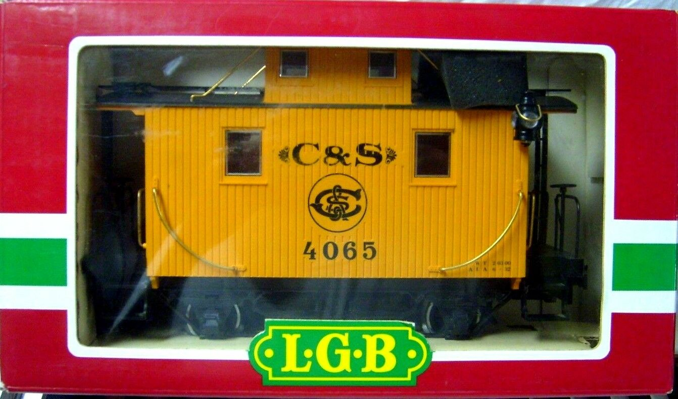 LGB 4065 G01 COLORADO & SOUTHERN CABOOSE W  METAL WHEELS