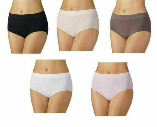 NEW Carole Hochman Ladies/' Seamless Brief 5-pack Colors//Sizes