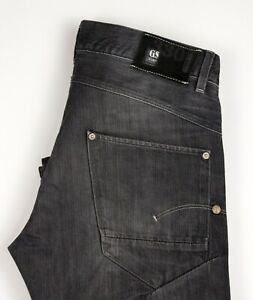 G-Star-Brut-Hommes-Neuf-Ruger-Droit-Jeans-Standard-Taille-W34-L34-ASZ1582
