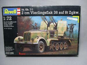 AM270-REVELL-1-72-MAQUETTE-AUTO-MITRAILLEUSE-VIERLINGSFLAK-38-REF-3126-BON-ETAT