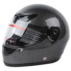 DOT-Carbon-Fiber-Flip-Up-Full-Face-Motorcycle-Helmet-Street-S-M-L-XL-XXL-TCMT