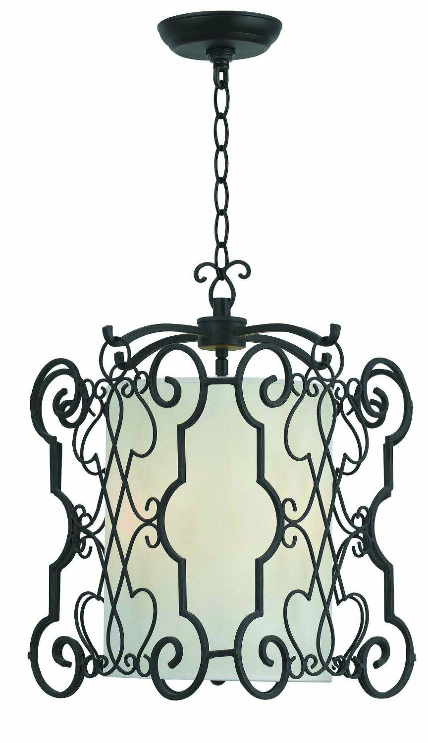 World Imports - Amelia Collection 3-Light Rust Iron Chandelier