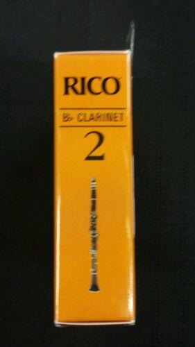 Rico Bb Clarinet Box of Ten Size 2 Reeds RCA1020