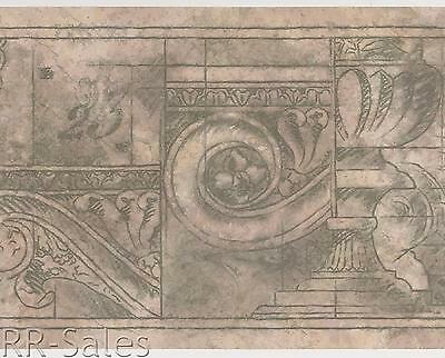 Milan Batik Architectural Designer Stone Mauve Croscill Wall Border Wallpapers