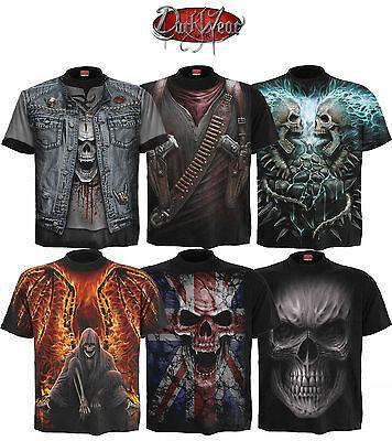 Spiral Direct Skull/Reaper/Rock/Metal/Biker/Dark Wear/Gun/Goth/T shirt/Top/Tee