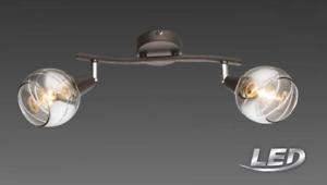 LED Globo Spot Glas Deckenleuchte Lampe Leuchte Spot bronze 54347-2