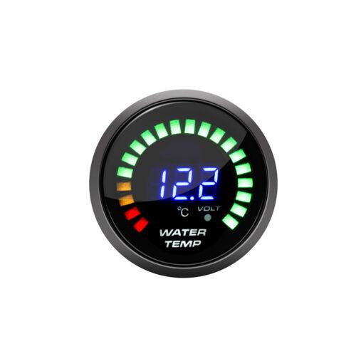 2/'/' 52mm Car Digital PSI Turbo Boost//Water//Oil Temp//Pressure//Tachometer//EGT Gaug