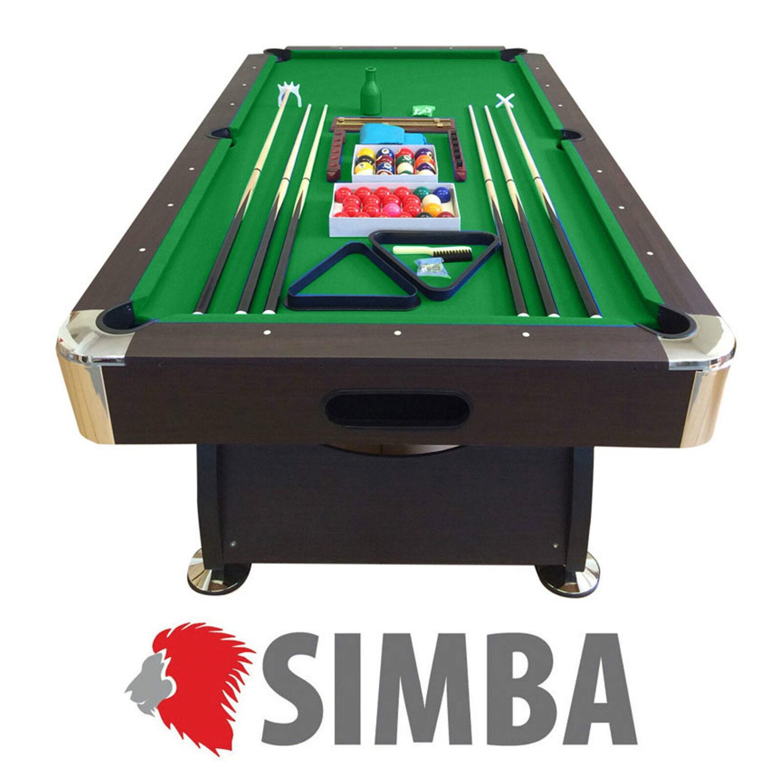 Mesa de billar pool 8 ft carambola pool Vintage verde Juegos de billar Nuevo