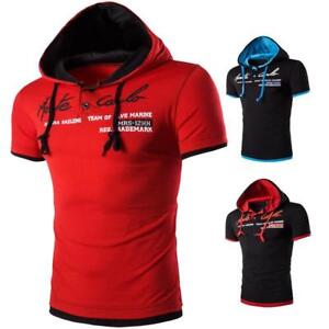 New-Polo-Shirt-Men-Fashion-Short-Sleeve-Slim-Fit-Cotton-Hooded-Solid-Polo-Shirt