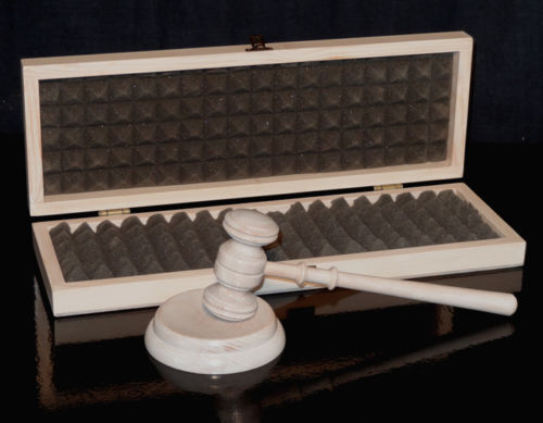 Judge/'s hammer,Auction hammer with block and box Gavel Hammer hand-stilted*