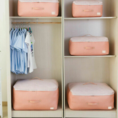 Zipper Storage Bags Box Organizer For Cloth Quilts Blanket Bedding Duvet Pillow