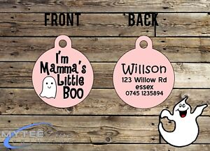 "Halloween DOG ID Collier Tag ""je suis Mamma's Little Boo"" - Double face Pet Charm-afficher le titre d`origine sMsVWHtW-07185949-446036160"