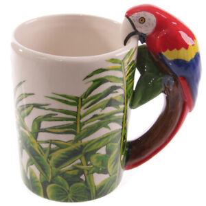 Puckator-Jungle-Explorateur-Tasse-Ara-Perroquet-Oiseau-Ceramique-3D-Anse-350ml