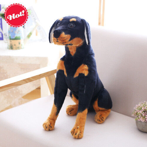 Doberman Pinscher Dog Plush Soft Toy Doll For Kids And Home Decor
